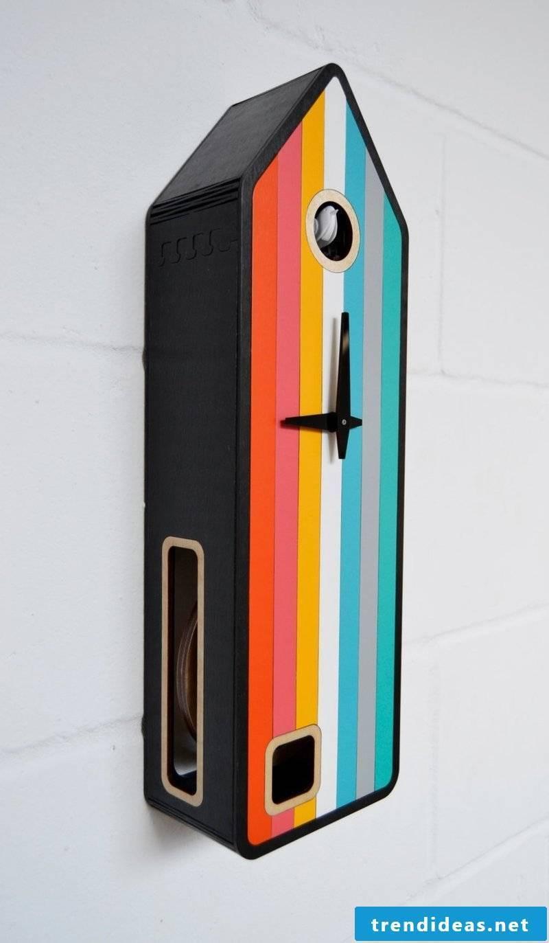 Colored cuckoo clocks