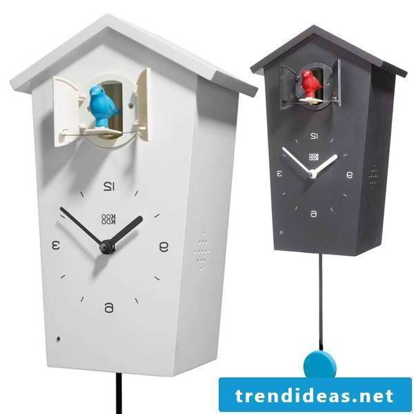 Cuckoo clocks in black and white