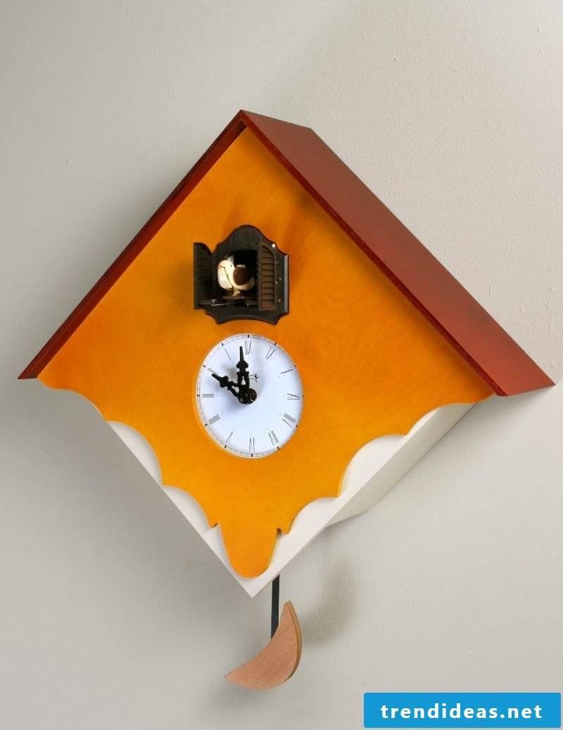 Cuckoo clock in orange