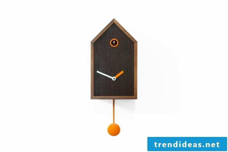 Modern cuckoo clocks made of wood