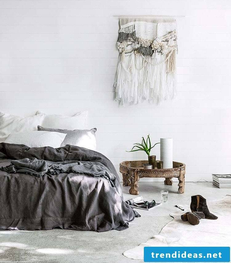 Decorate the bedroom completely with fur