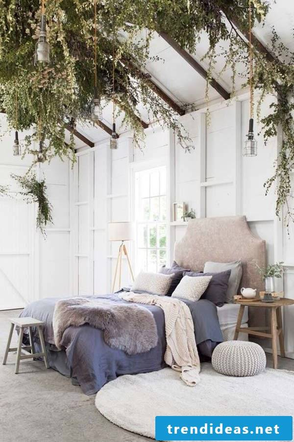 Shaping the bedroom with fur