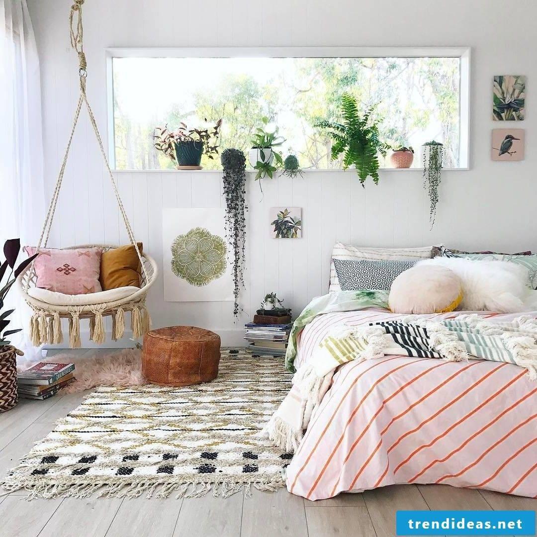 Bedroom modern in Scandinavian style