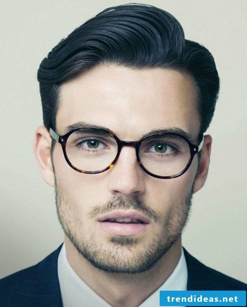 elegant short hairstyle with side parting Men's Trends 2014
