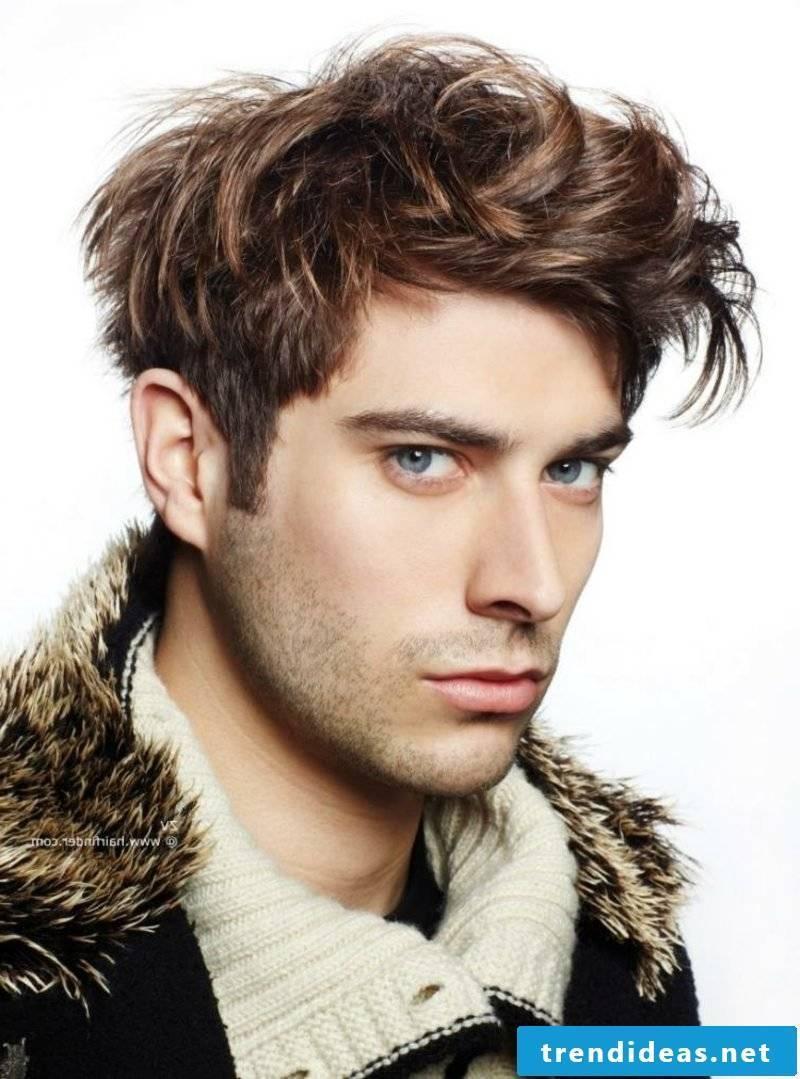 Men's hairstyles 2014 ruffled hair medium long