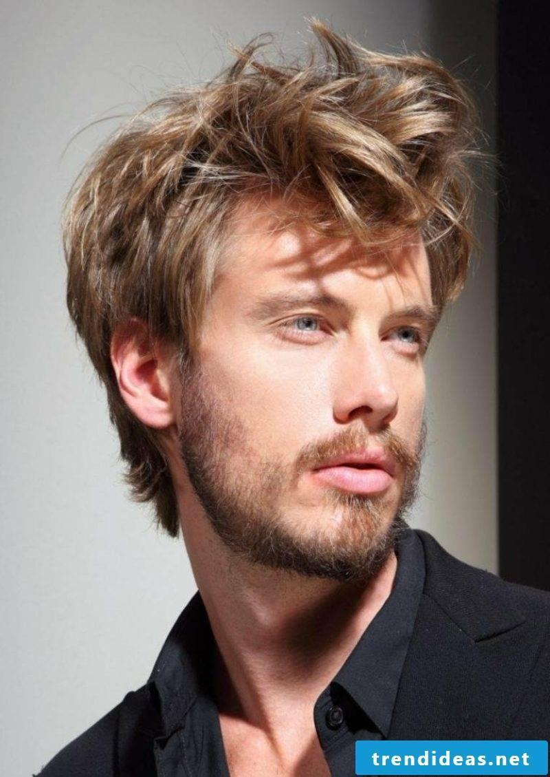 medium length hair ruffled look men's hairstyles 2014