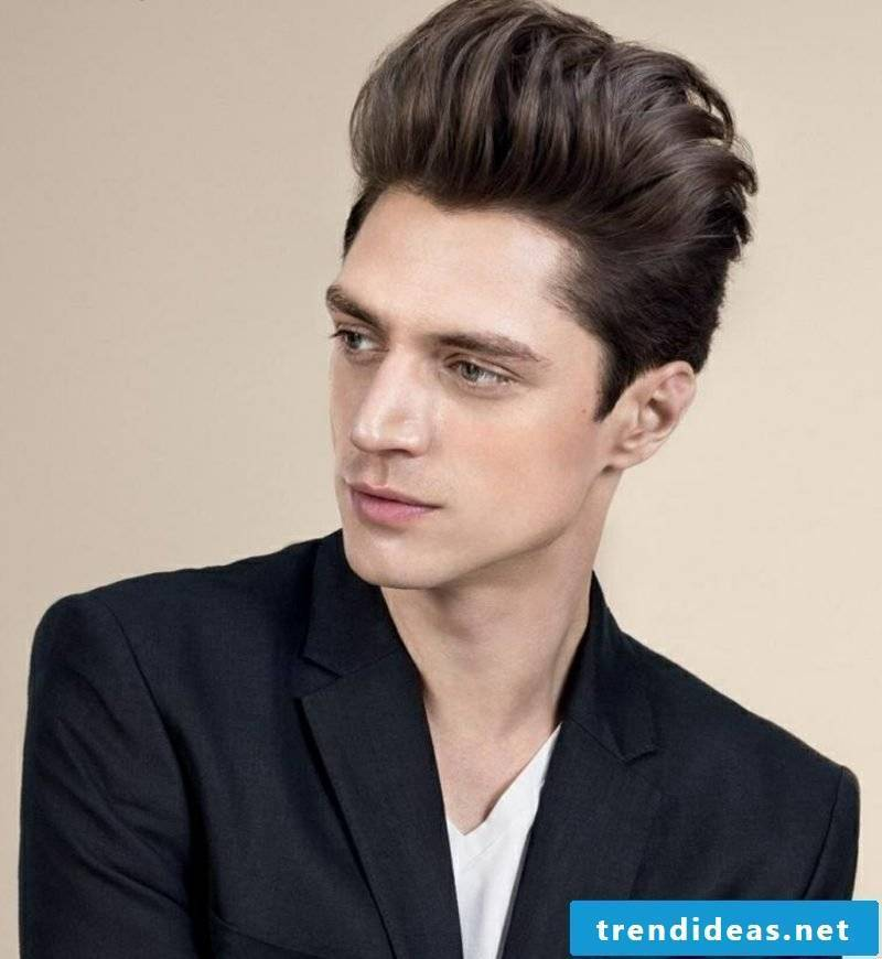 backwards styled hair medium long men's hairstyles 2014