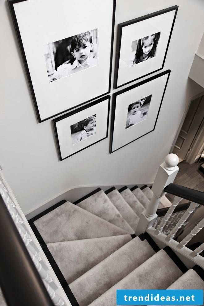 Staircase decoration photo wall design