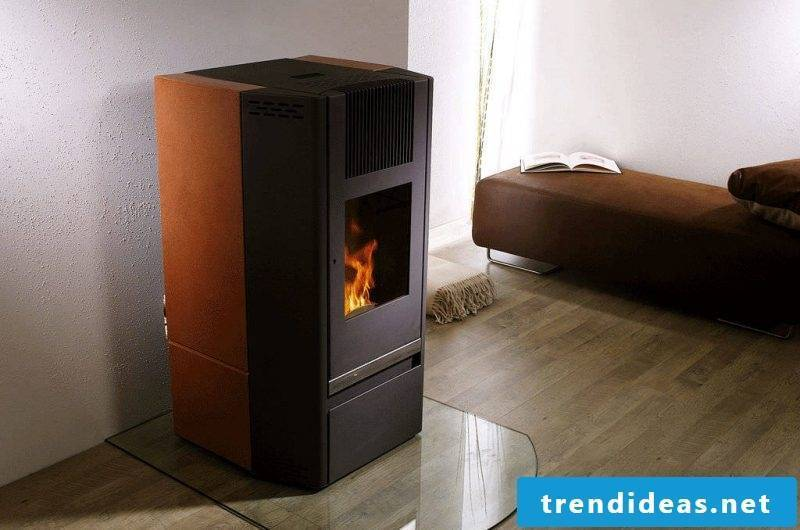 Modern stoves in brown