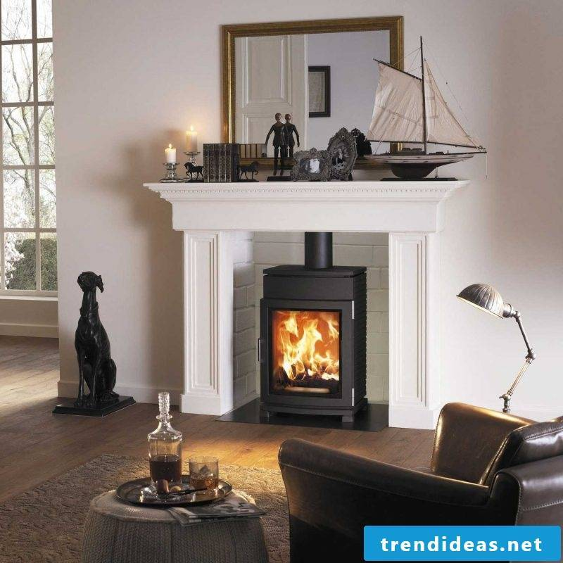 Modern stoves can also look like old fireplaces