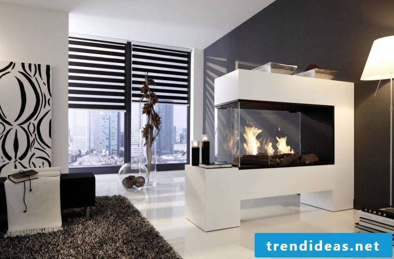 Modern stoves made with glass