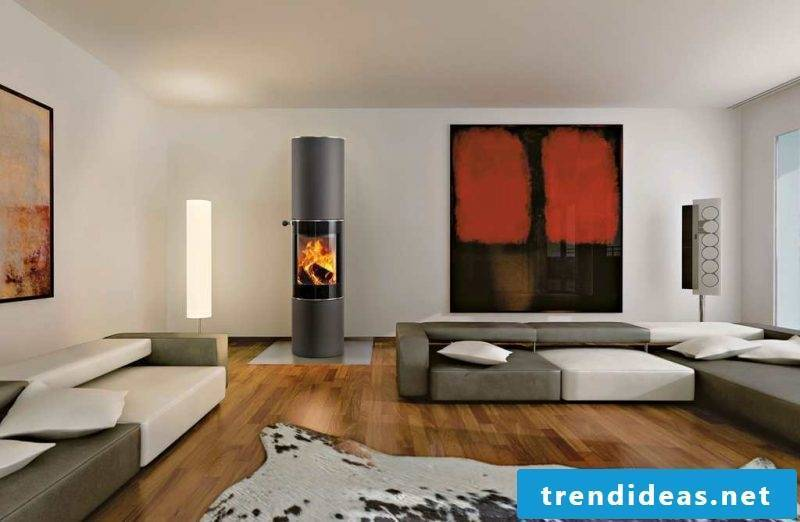 Modern stoves in an oval shape