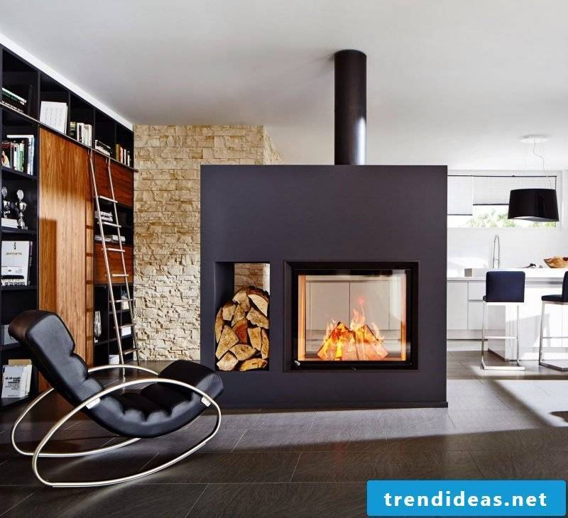 Modern stoves have room for the woods