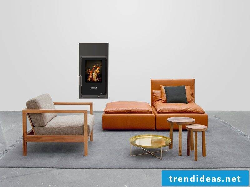Modern stoves from Buderus in the wall