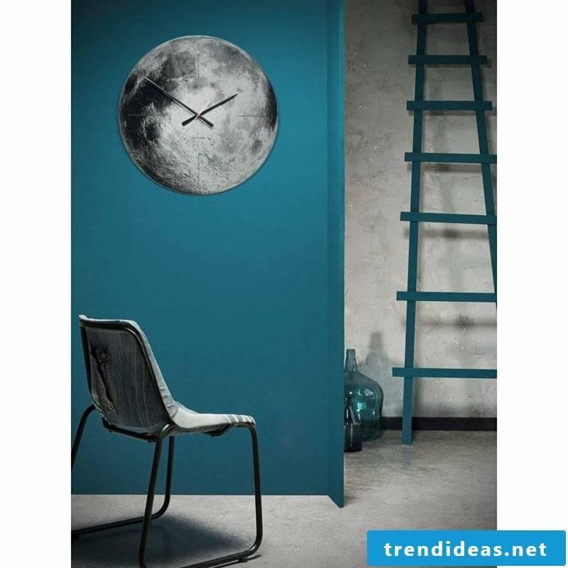 modern wall clocks moon