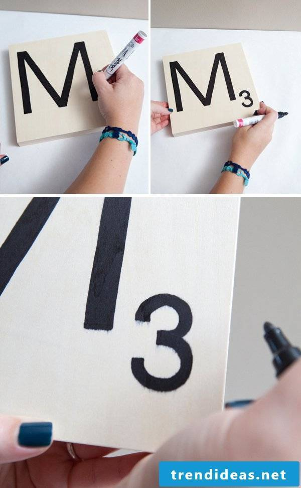 Make deco numbers and letters yourself