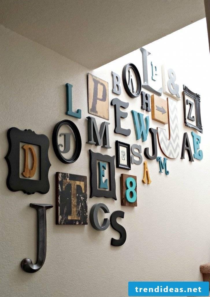Wall decoration - typographic interior decoration