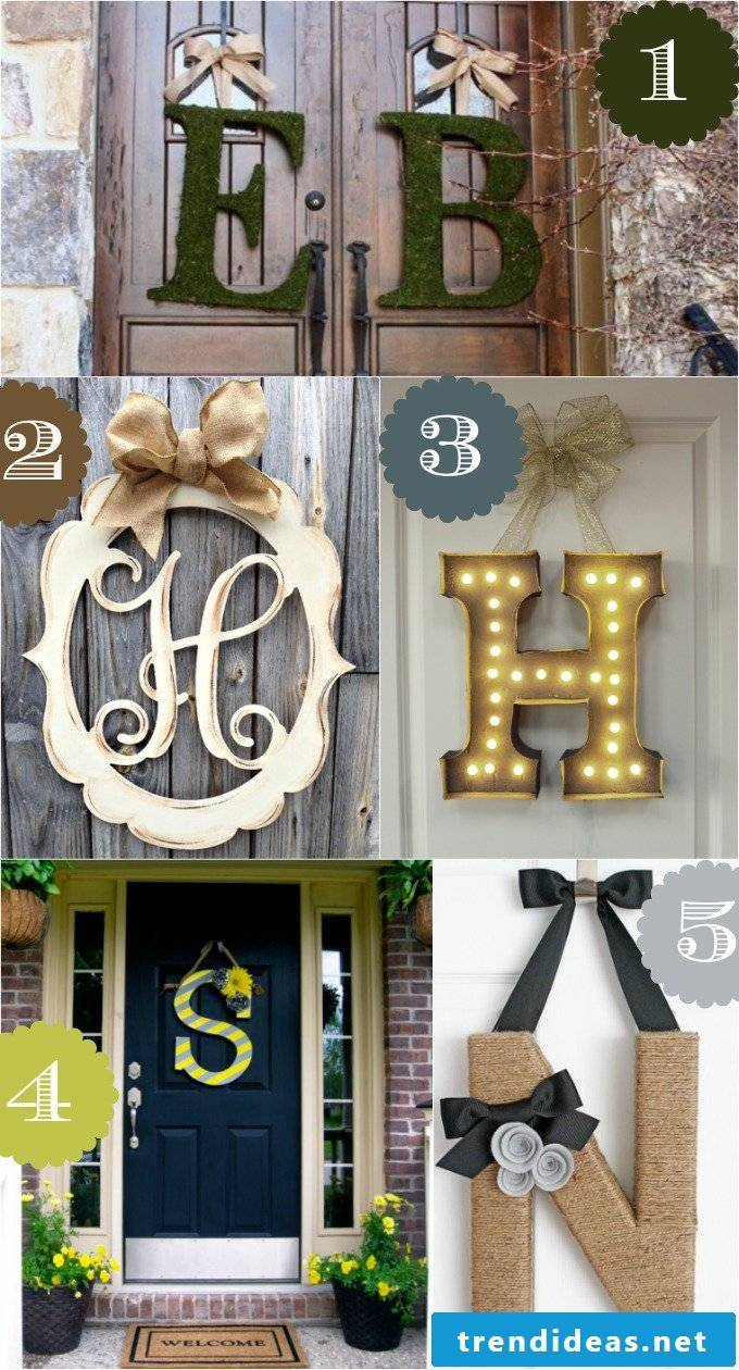 Examples of creative wall design with homemade letters