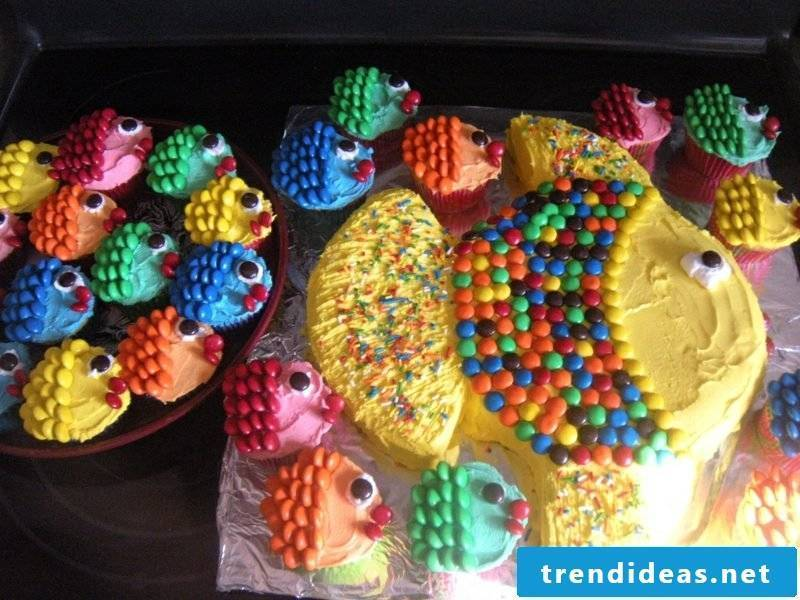 Kids biscuits and muffins bake birthday