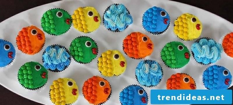 Muffin recipe child birthday fish
