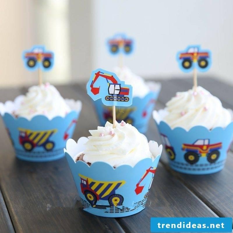 Baking for kids muffins birthday boy