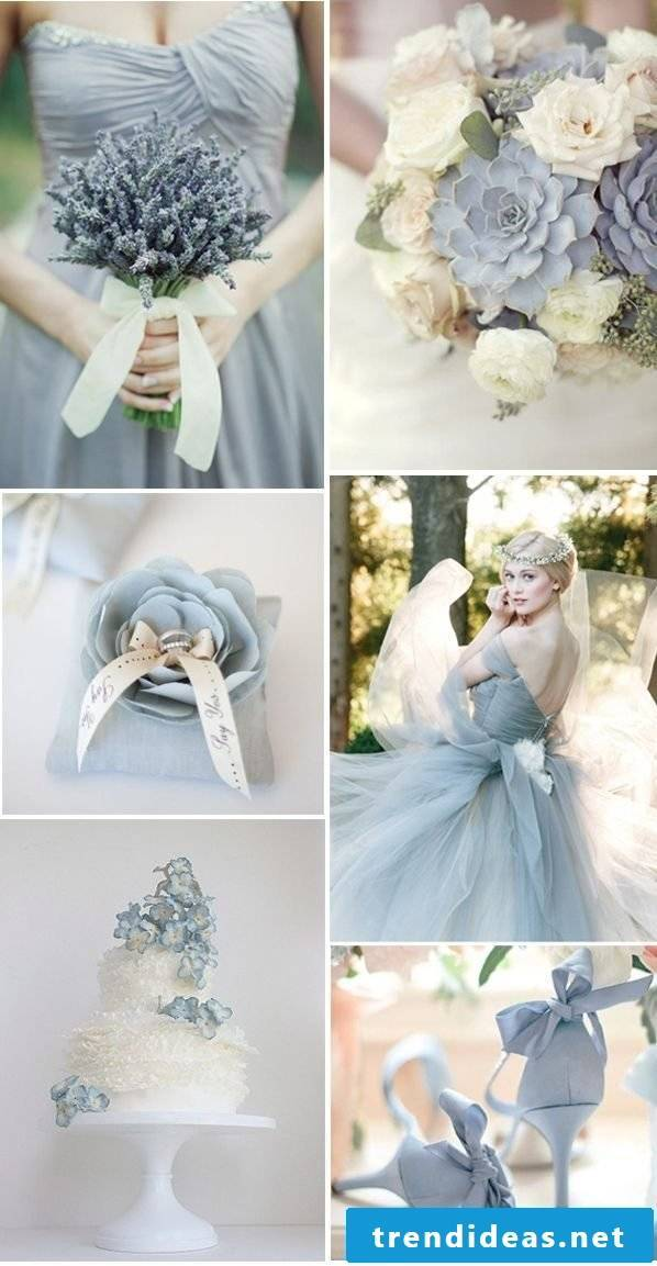 Pastel blue as the main color for your wedding in 2018