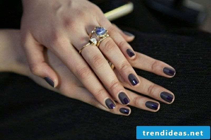 Nail art darker color design