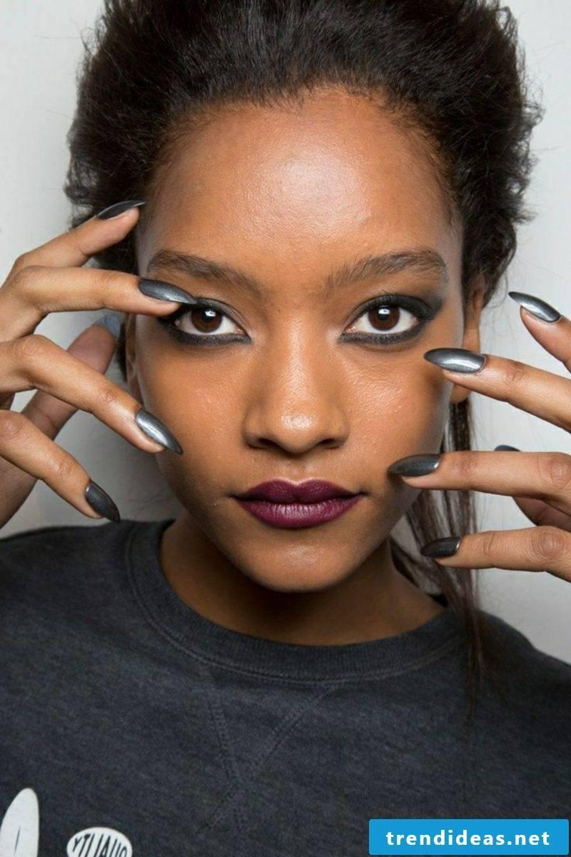 Nail art design Winter 2016 Shape of the nails