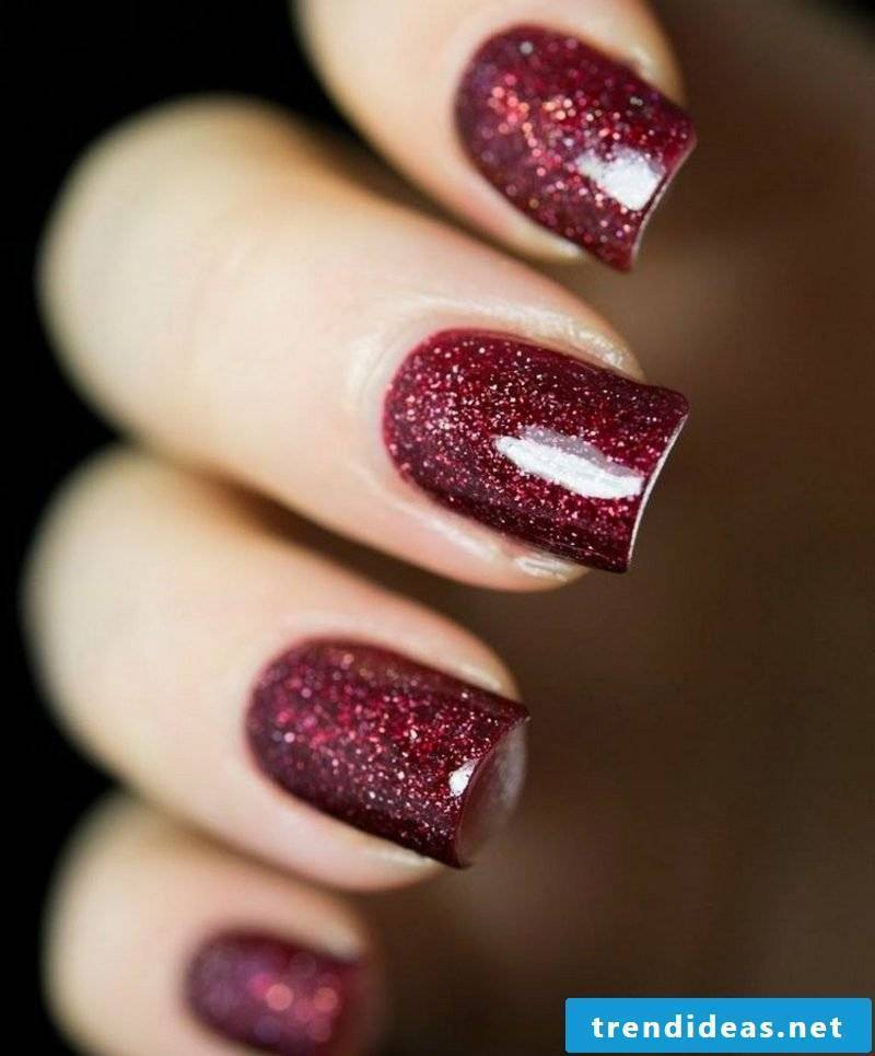Nailart gallery glitter varnish burgundy
