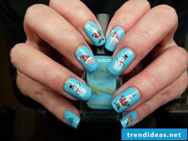 Nailart Gallery Winter Christmas motives