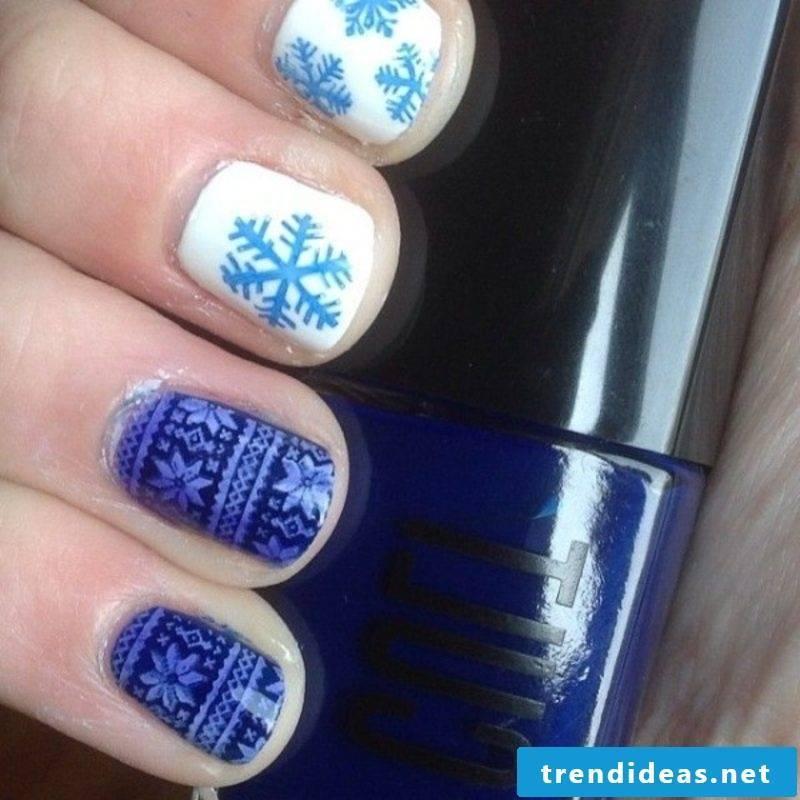 Nailart gallery textile imitation snowflakes