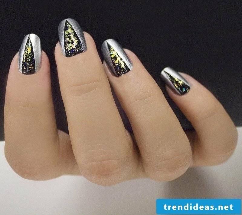 Nailart gallery geometric motifs New Year's Eve party
