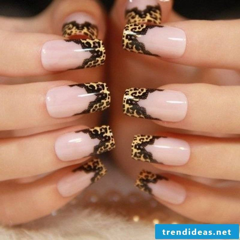 Nailart gallery winter fancy ideas animal pattern