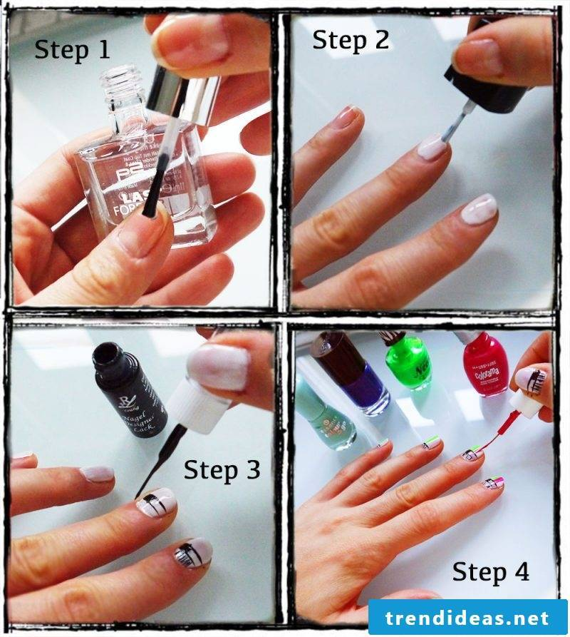 Nailart instruction DIY