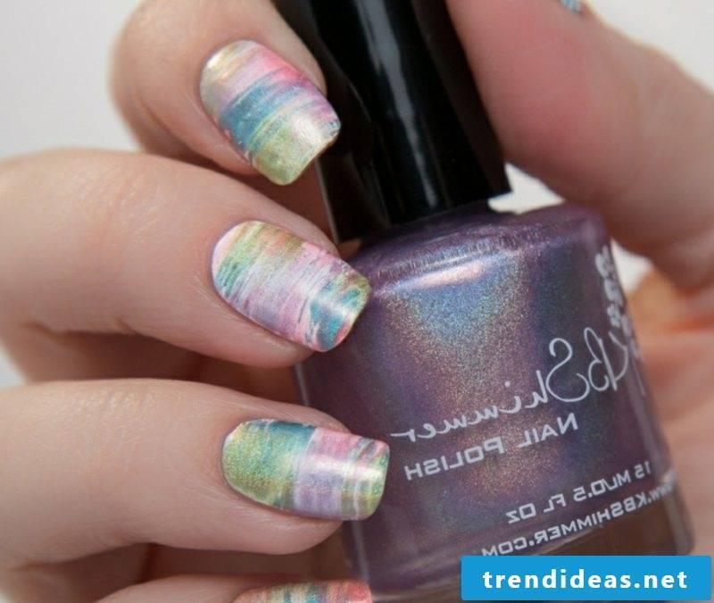 Pastel colors original nail design spring