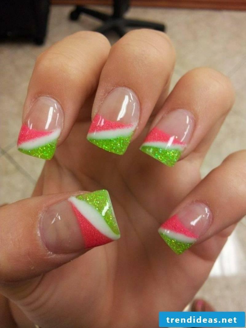 French fingernails original color scheme