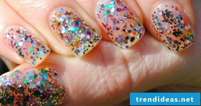 original nail design glitter
