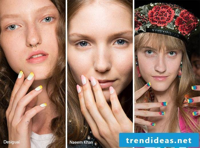 Nail motifs ombre style