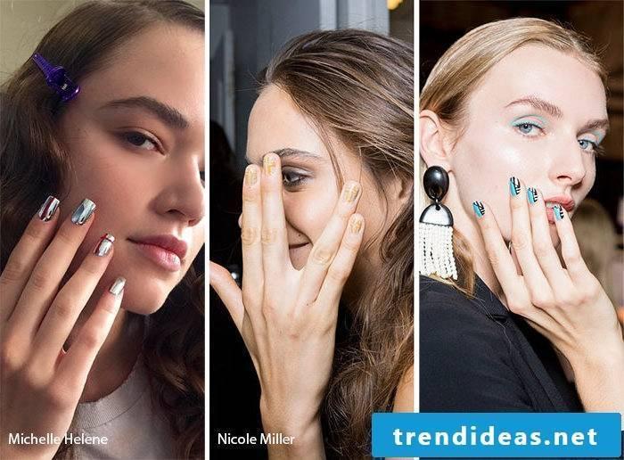 Nail Designs Trends 2017 Metallic Nails