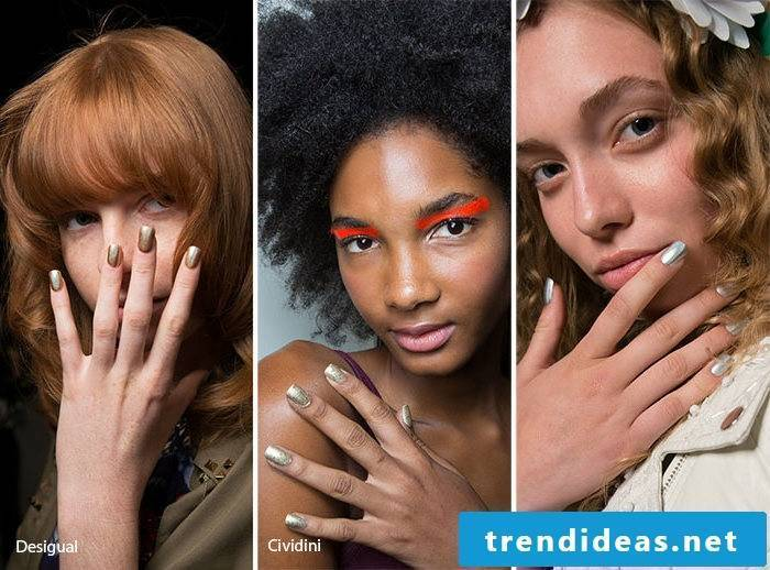 Nail Motives - Metallic Nails Are Trend 2017