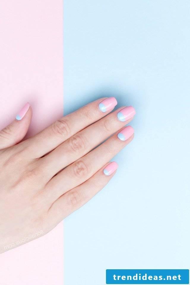 Pink nails fingernails 2017