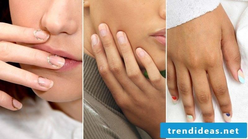 Nude fingernails - Trend 2017