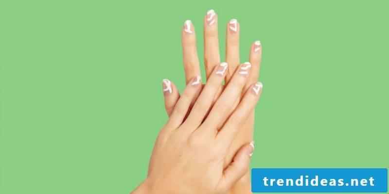 Nails white design