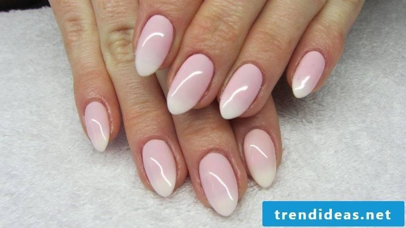 Rose quartz fingernails