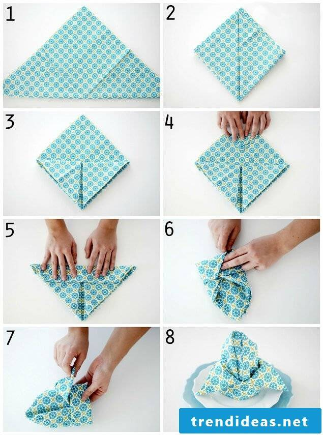 Ideas for napkins folding Christmas