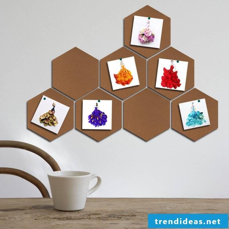 Make memo board yourself - DIY idea with cork