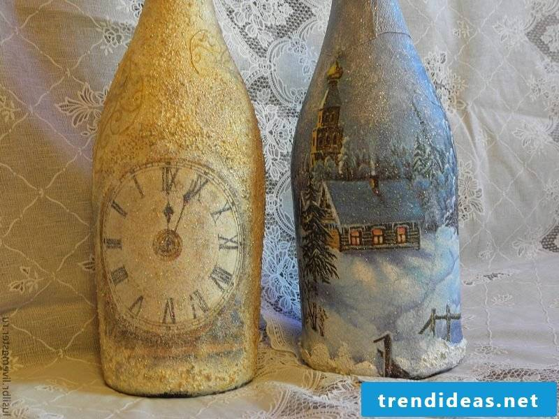 Servietteentechnik Instructions - Make champagne bottle as a New Year's gift