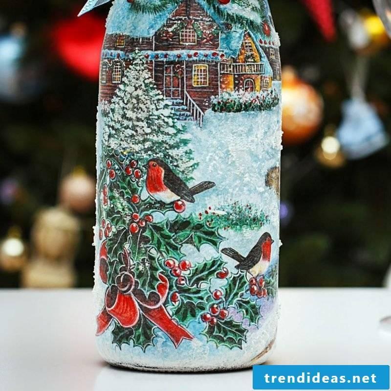 Servietteentechnik Instructions: the perfect decoration for champagne bottles