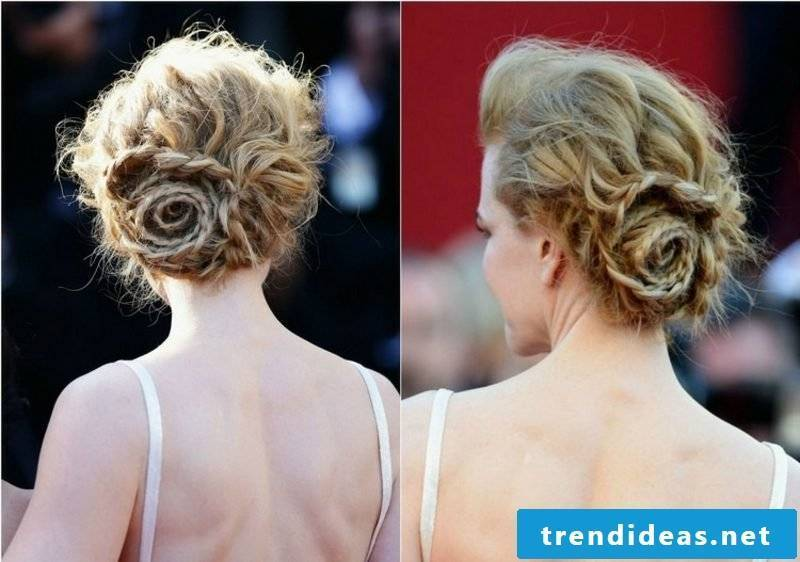 Updo hairstyles themselves make elegant hairstyle with braid