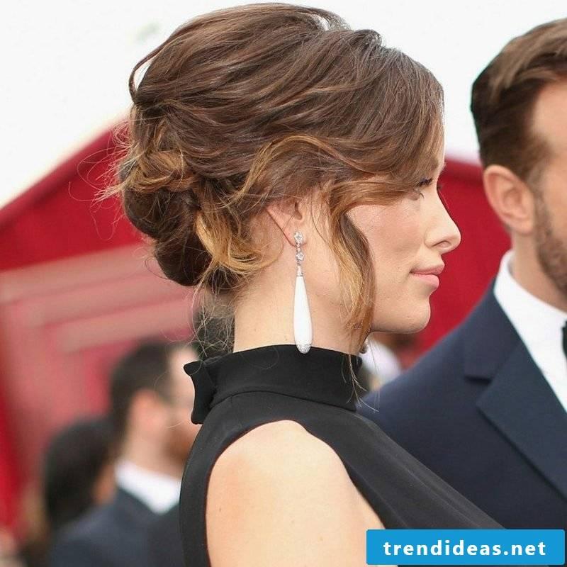 Updos elegant bunny long hair
